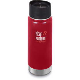 Klean Kanteen Wide Vacuum Insulated Drikkeflaske Café Cap 2.0 473ml, mineral red